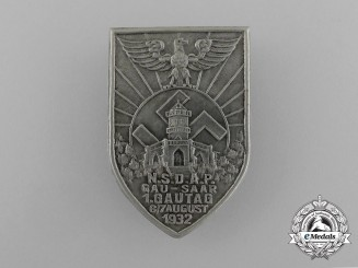 A 1932 NSDAP Saar Region 1st Council Day Badge