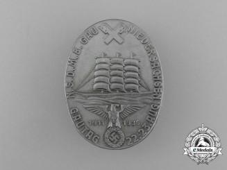 A 1936 NSDMB (National Socialist German Navy League) Gautag Niedersachsen Badge by Hartmann