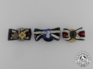 A Grouping of Three First and Second War German Boutonnieres