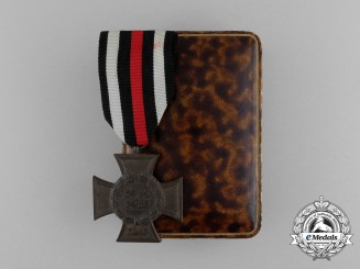 A Cased Honour Cross of the World War (1914-18) by an Unidentified Maker