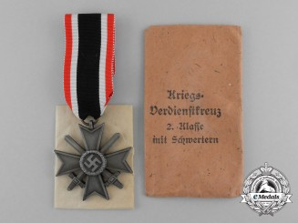 A Mint and Unissued War Merit Cross Second Class by Deschler & Sohn in its Original Packet of Issue