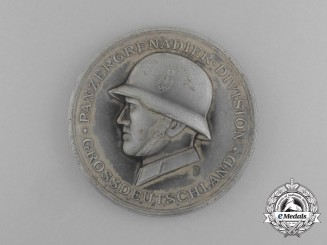 A Mint Panzergrenadier Division Großdeutschland Commemorative Table Medal by Deschler & Sohn