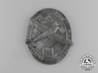 Germany. A 1933 First National Socialist Week of Flight in Fürth during Pentecost Medal