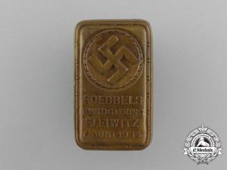 A 1934 Goebbles Speech in Gleiwitz Badge