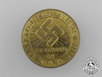 A 1934 NSDAP Hildesheim Kreistagung Badge