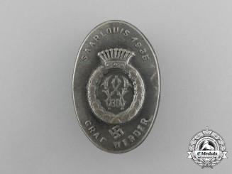 """A 1935 NSDAP Saarlouis """"Graf Werder"""" Warrior Day Celebration Badge"""