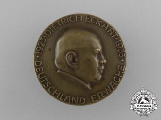 "A 1933 Dietrich Eckart ""Germany Awake"" Martyrdom Badge by Deschler & Sohn"