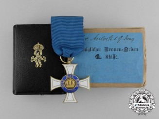 An Order of the Crown in Gold to Knight's Cross Lieutenant Colonel Von Aulock