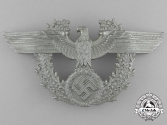 A Second War German Police Shako Plate