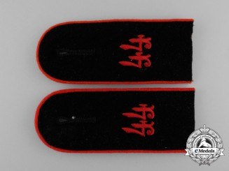 A Mint Pair of Wehrmacht 44th Artillery Division Enlisted Man's Shoulder Boards