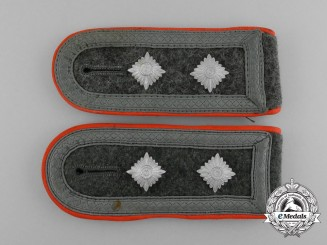 A Pair of Wehrmacht Military Police Oberwachtmeister Rank Shoulder Boards