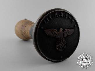 An Ink Stamp of the Seal of the SS Field Post Office 113 Attached to XIII SS-Army Corps
