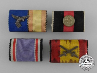 A Grouping of Four Second War German Ribbon Bars