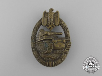 An Early Bronze Grade Tank Badge in Tombac; Hollow Version