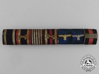 Germany, Wehrmacht. A Heer Long Service Ribbon Bar