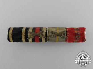A German & Romanian Four Piece Ribbon Bar