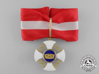 An Order of the Crown of Italy in Gold, Commander