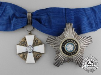 Finland, Republic. An Order of the White Rose, I Class Commander, c.1945