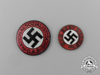 A Grouping of Two NSDAP Membership Badges
