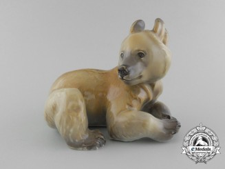 An SS Allach Sitting Bear Figurine by Theodor Kärner