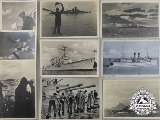 Nine Wartime Kriegsmarine Postcards