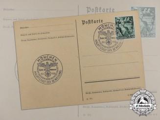 A 1938 Munich Beer Hall Putsch Movement Postcard