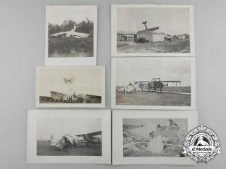 Six First War Downed Aircraft Photographs