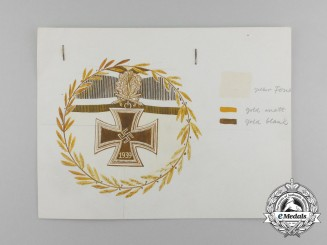 A Prototype Knight's Cross Design for a Luftwaffe Ceremony Sevres-Manufactured Plate