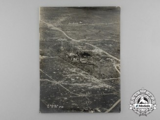 A First War British Reconnaissance Photograph of Chateau & Trenches