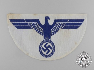 A Large Kriegsmarine Sports Shirt Eagle Insignia