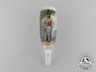 United Kingdom. A Waterloo Period King's German Legion Porcelain Pipe Head