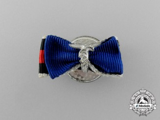 A Luftwaffe Long Service and Sudetenland Commemorative Medal Boutonniere