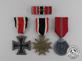 A Second War Iron Cross & Eastern Front Medal Group