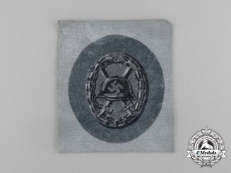 Germany. A Black Wound Badge; Cloth Version, c.1940