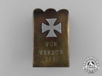 "A First War German Pioneer Battalion ""For Verdun"" (Vor Verdun) Matchbox Cover 1916"