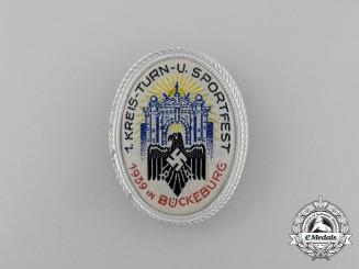A 1939 Bückeburg 1st District Gymnastics and Sports Festival Badge