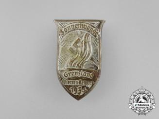 A 1934 Viersen Kempen Summer Solstice Event Badge