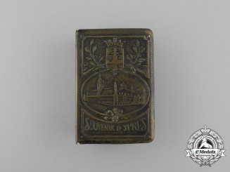"A First War Belgian ""Souvenir of Ypres"" Matchbox Cover"