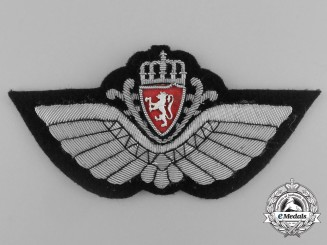 A Royal Norwegian Air Force (RNAF) Pilot Badge