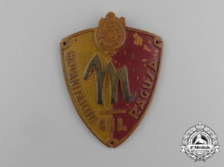 An Italian GIL (Gioventu Italiana del Littorio) Fascist Youth Ragusa Sleeve Badge
