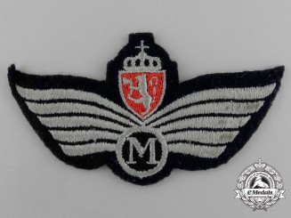 A Royal Norwegian Air Force (RNAF) Engineer (M) Badge