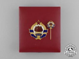 A Yugoslavian Civilian Border Patrol Award with Miniature & Case