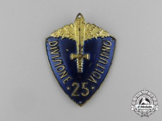 An Italian 25th Volturno Infantry Division Sleeve Badge