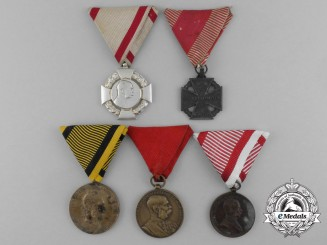Five Austrian Medals and Awards