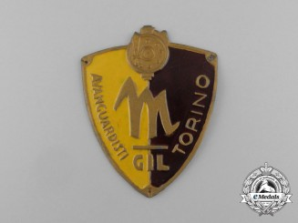 An Italian GIL Fascist Youth Avant Guard of Torino  Sleeve Badge