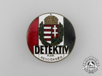A Hungarian DETEKTIV Badge; 1930's Period