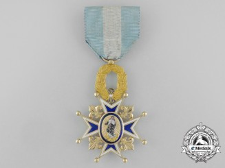 A Spanish Order of Charles III; Officer's Cross in Gold