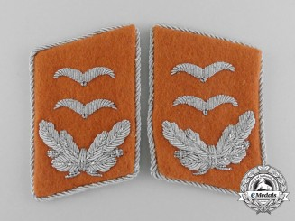 A Mint and Unissued Set of Luftwaffe Signal Corps Oberleutnant Rank Collar Tabs