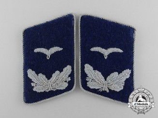 A Mint and Unissued Set of Luftwaffe Medical Personnel Leutnant Rank Collar Tabs