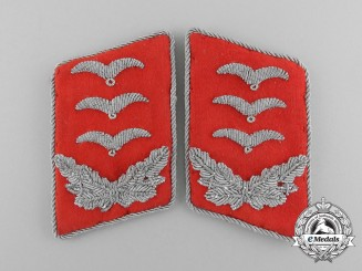 A Mint and Unissued Set of Luftwaffe Flak Personnel Hauptmann Rank Collar Tabs